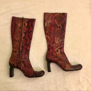 Vintage Python Snake Boots